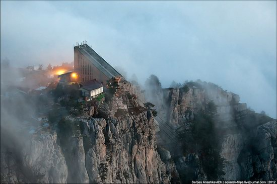Ai-Petri - foggy and windy peak, Crimea, Ukraine photo 4