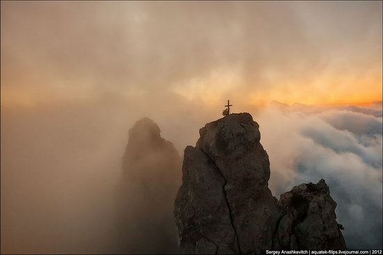Ai-Petri - foggy and windy peak, Crimea, Ukraine photo 7