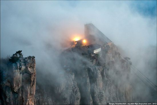 Ai-Petri - foggy and windy peak, Crimea, Ukraine photo 9