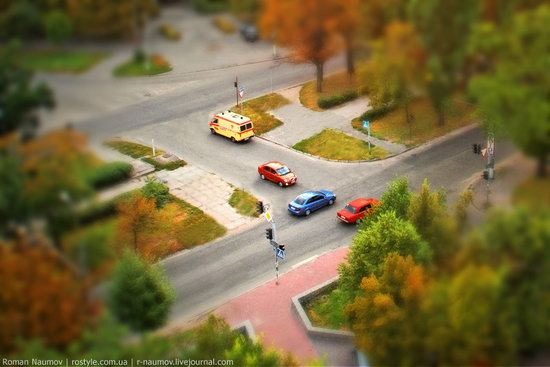 Bila Tserkva city, Ukraine tilt-shift photo 11