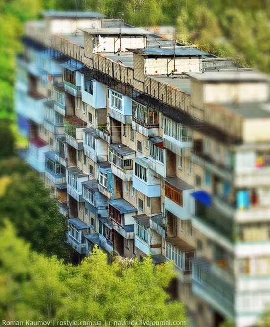 Bila Tserkva city, Ukraine tilt-shift photo 13