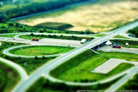 Bila Tserkva city, Ukraine tilt-shift photo 2
