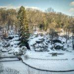 Snow-covered Sofiyivka – national dendrological park