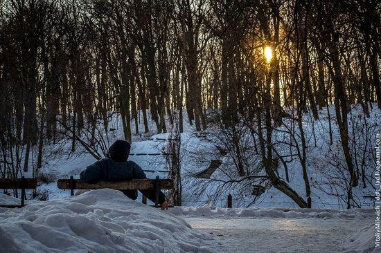 Snow-covered Sofiyivka park, Uman, Ukraine photo 19