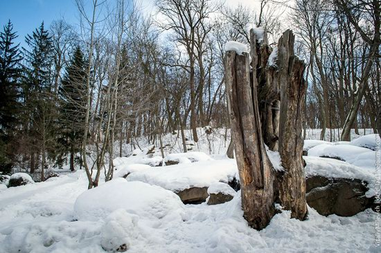 Snow-covered Sofiyivka park, Uman, Ukraine photo 22