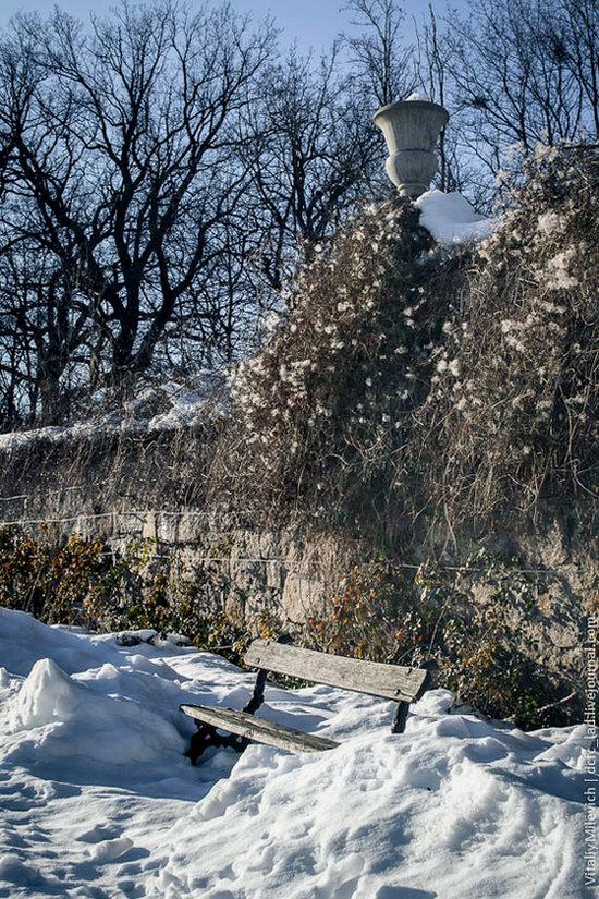 Snow-covered Sofiyivka park, Uman, Ukraine photo 25