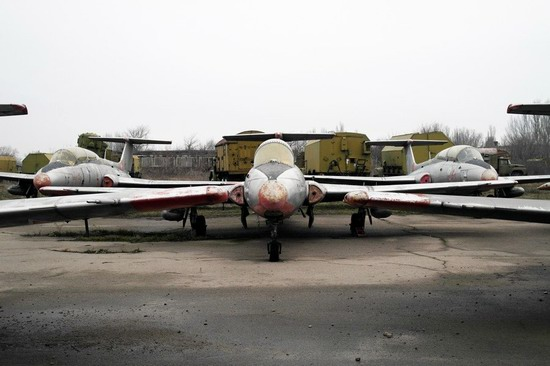 Abandoned flight training center near Zaporozhye, Ukraine photo 16