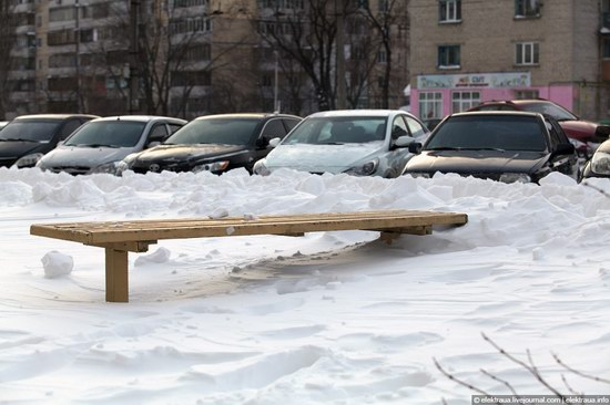 Abnormally heavy snowfall in Kiev, Ukraine photo 1