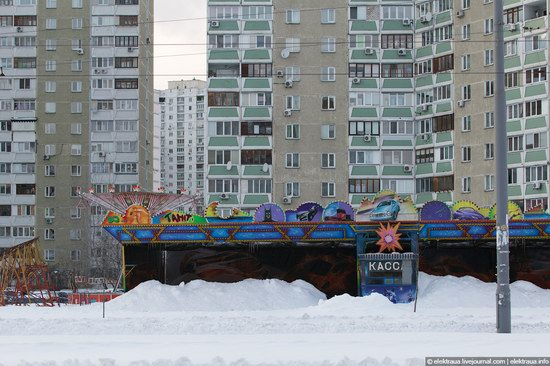 Abnormally heavy snowfall in Kiev, Ukraine photo 12