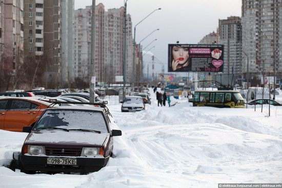 Abnormally heavy snowfall in Kiev, Ukraine photo 13