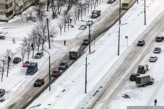 Abnormally heavy snowfall in Kiev, Ukraine photo 2