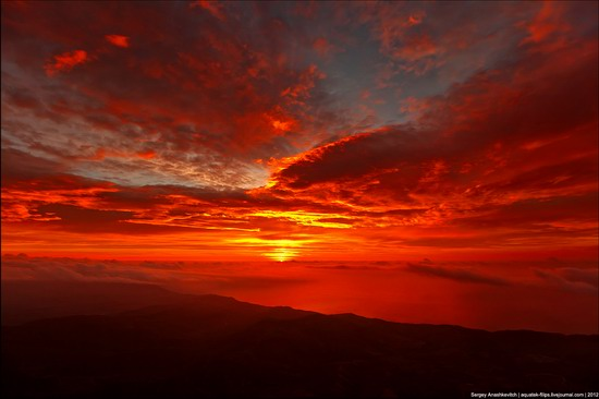 Sunset and sunrise in Crimea, Ukraine photo 1