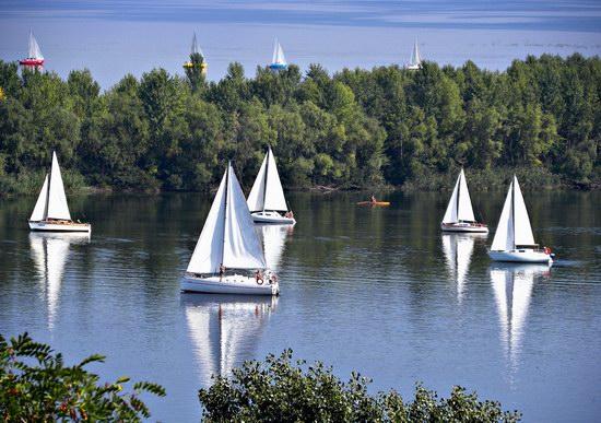 Cherkasy Ukraine - the Dnieper River