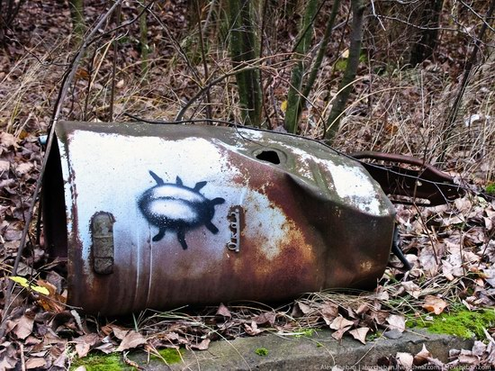 Graffiti of Pripyat - the ghost town, Chernobyl, Ukraine photo 11