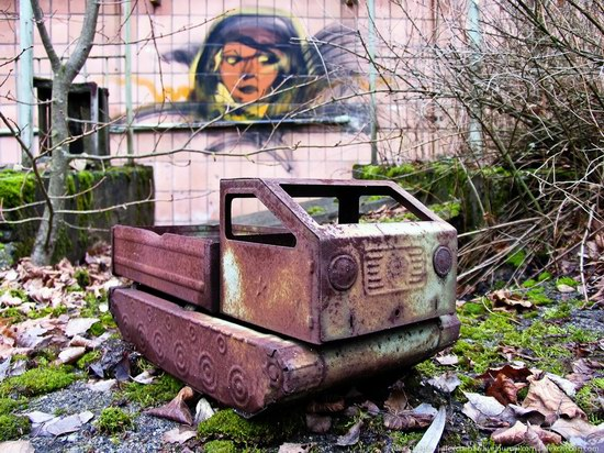 Graffiti of Pripyat - the ghost town, Chernobyl, Ukraine photo 13