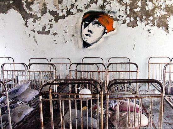 Graffiti of Pripyat - the ghost town, Chernobyl, Ukraine photo 18