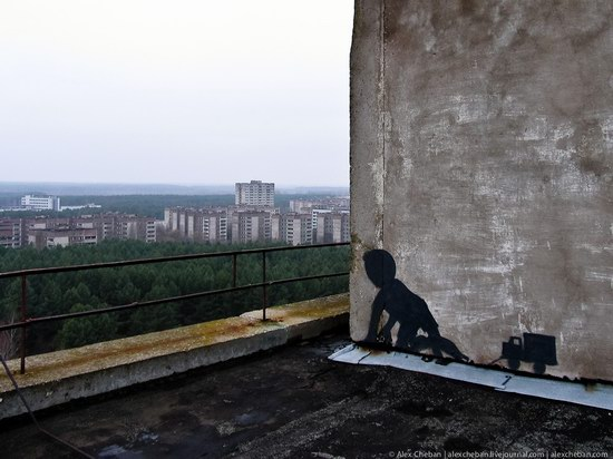 Graffiti of Pripyat - the ghost town, Chernobyl, Ukraine