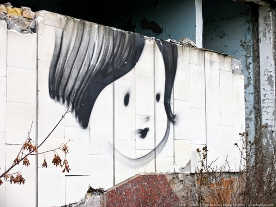 Graffiti of Pripyat - the ghost town, Chernobyl, Ukraine photo 26