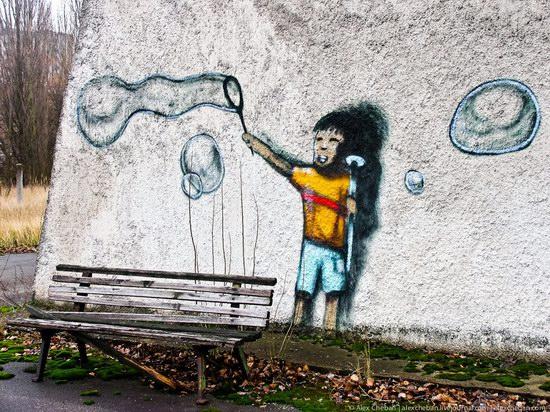 Graffiti of Pripyat - the ghost town, Chernobyl, Ukraine photo 4
