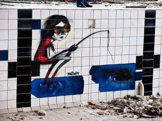 Graffiti of Pripyat - the ghost town, Chernobyl, Ukraine photo 7