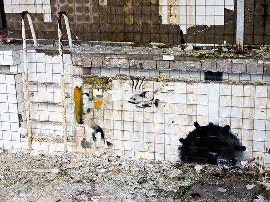 Graffiti of Pripyat - the ghost town, Chernobyl, Ukraine photo 8