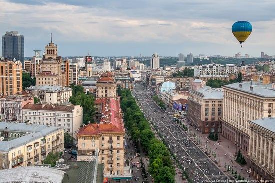 Fly over Kyiv in an air balloon