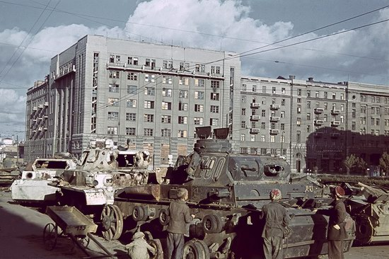 Kharkiv, Ukraine during the German occupation in color, photo 1