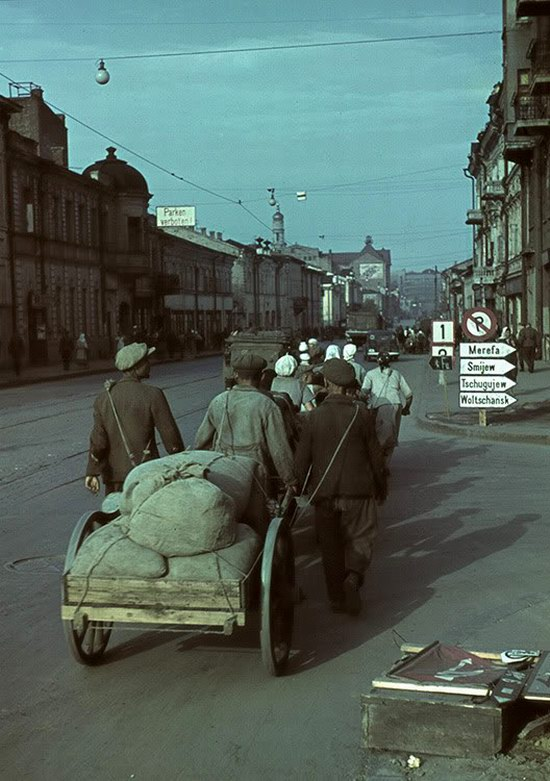 Kharkiv, Ukraine during the German occupation in color, photo 17