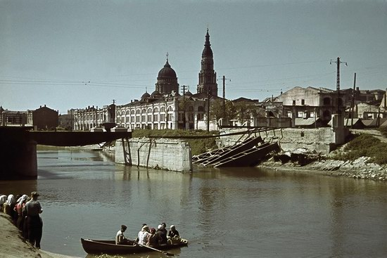 Kharkiv, Ukraine during the German occupation in color, photo 23