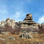 Stone statues of the Valley of Ghosts in the Crimea