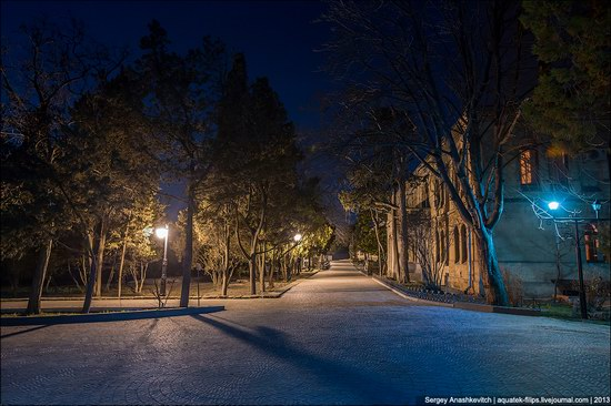The remains of ancient city-state Chersonese at night time photo 10