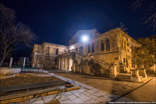 The remains of ancient city-state Chersonese at night time photo 11