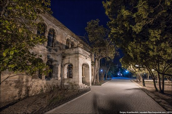 The remains of ancient city-state Chersonese at night time photo 12
