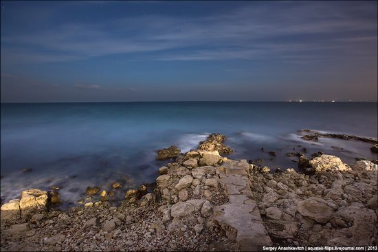 The remains of ancient city-state Chersonese at night time photo 6