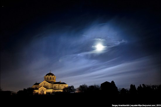 The remains of ancient city-state Chersonese at night time photo 7