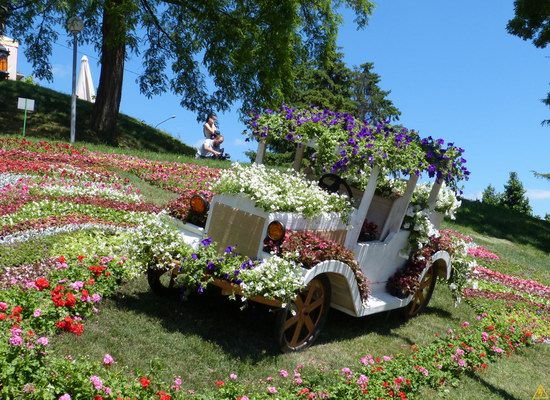 Exhibition of flower cars at Pevcheskoe Pole in Kiev, Ukraine photo 11