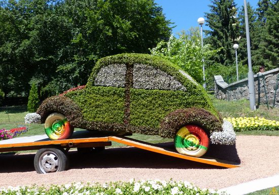 Exhibition of flower cars at Pevcheskoe Pole in Kiev, Ukraine photo 13