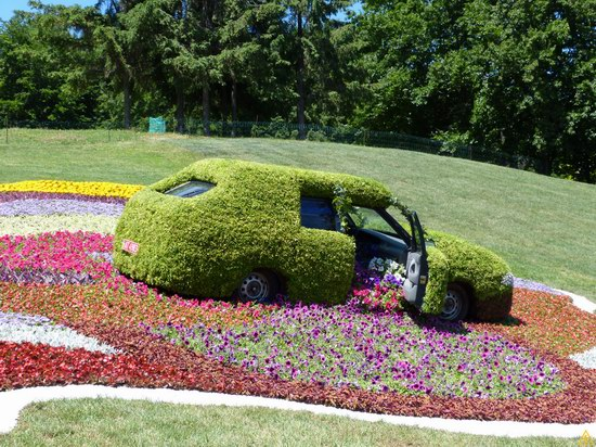 Exhibition of flower cars at Pevcheskoe Pole in Kiev, Ukraine photo 8