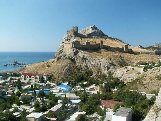 Sudak city in Crimea, Ukraine