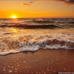 Beautiful Sunset on the Generals' Beaches in Crimea