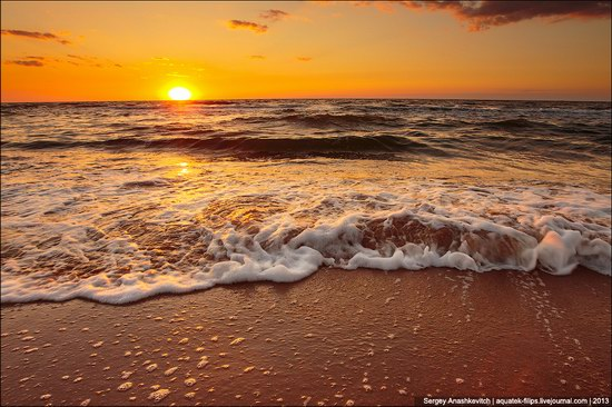 Sunset on the Generals Beaches, Crimea, Ukraine photo 1