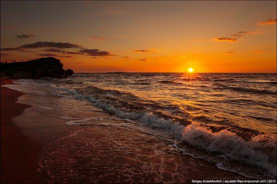 Sunset on the Generals Beaches, Crimea, Ukraine photo 3