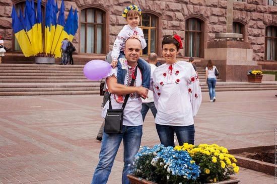 Ukrainians celebrating Independence Day, Kyiv photo 13