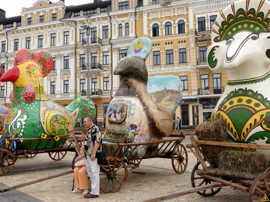 Ukrainian regions birds - Independence Day parade photo 11