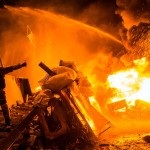 Episodes of confrontation in the center of Kyiv