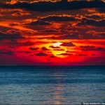 Amazing sunset in Crimea