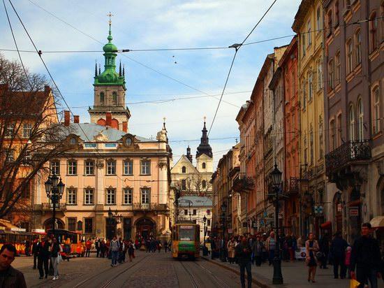 Architecture of the historical center of Lviv, Ukraine