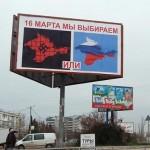 Agitation before the referendum in the Crimea