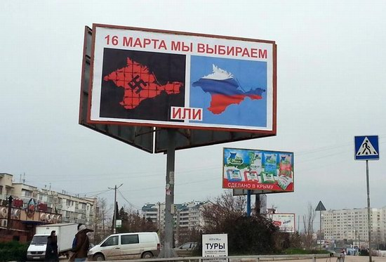 Agitation before the referendum in the Crimea, Ukraine