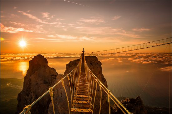 Hanging bridges on Ai-Petri Mount, Crimea, Ukraine